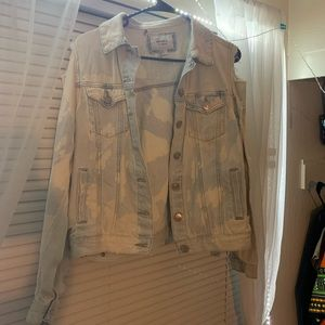 Forever 21 Acid washed & pre-ripped Jean Jacket